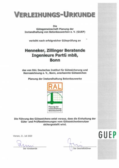 Verleihungs-Urkunde