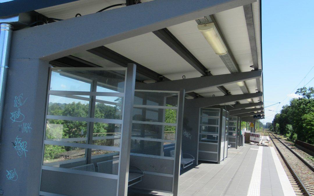 Erneuerung Bahnsteigdach in Hückelhoven-Baal