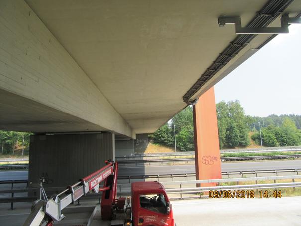 Bauwerksprüfung Raststättenbrücke über die A1